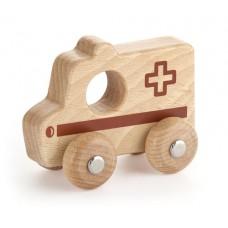 Ambulance - Wooden Natural - Viga Toys