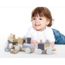 Pull Along Stacking Train - Scandi - Viga Toys