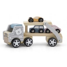 Car Carrier Bear Scandi - Viga Toys