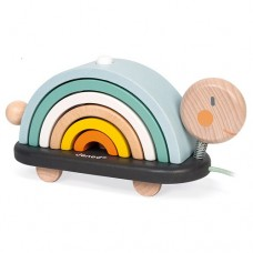 Pull Along Cocoon Rainbow Turtle  - Janod NEW