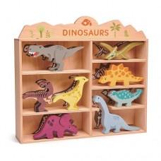 Dinosaurs in Wooden Display Box - Tenderleaf Toys