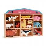 Farmyard Animals in Wooden Display Box - Tenderleaf Toys