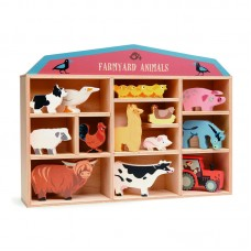 Farmyard Animals in Wooden Display Box - Tenderleaf Toys