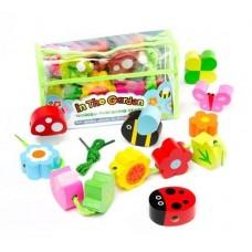Threading Beads - In the Garden - Meadow Kids