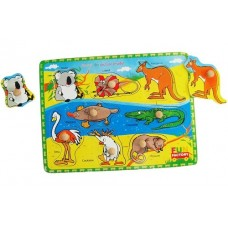 8 pc Pin Puzzle - Australian Animals - Fun Factory
