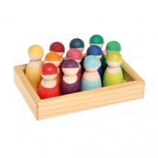Rainbow Friends 12pc - Grimms' Toys
