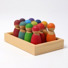 Rainbow Friends Cherrywood 12pc - Grimms' Toys