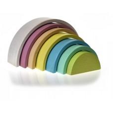 Rainbow Stacker - Wooden - Vintage/ Pastels