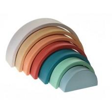 Rainbow Stacker - Wooden - Sunset/ Terracotta