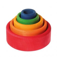 Stacking Bowls - Red - Grimms