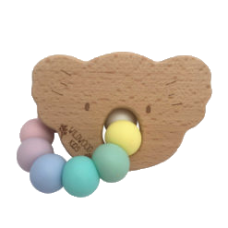 Koala Teether Rainbow - Silicone & Wood - Wildwood