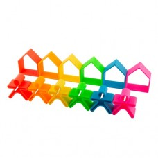 6 people + 6 houses Silicone - NEON - dëna Toys