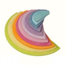 Semi-Circles Pastel Large for Rainbow Stacker -  Grimm's Toys