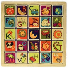 Alphabet Wooden Magnetic Tile Puzzle - B Dot