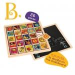 Alphabet Wooden Magnetic Tile Puzzle - B Dot