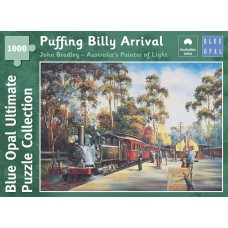 1000 pc Blue Opal Puzzle - Puffing Billy Arrival - John Bradley