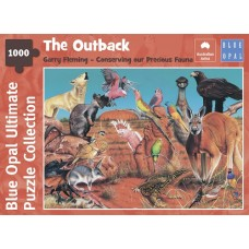 1000 pc Blue Opal Puzzle - The Outback	- Gary Fleming