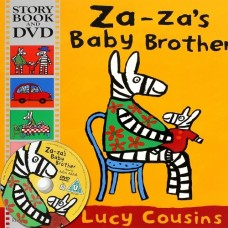 Za Za's Baby Brother with DVD - by Lucy Cousins
