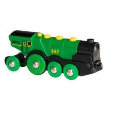 Train - Battery Powered Big Green Action Locomotive Two Way - Brio Wooden Trains 33593