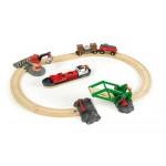 Train - Harbour Cargo Set - Brio Wooden Trains 33061