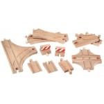 Train - Wooden Track Expansion Pack Advanced 11pc - Brio Wooden Trains 33307