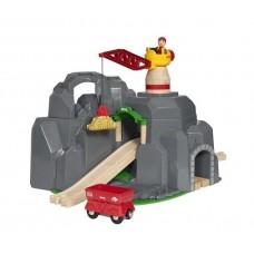Train - Crane & Mountain Tunnel - Brio Wooden Trains 33889