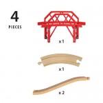 Train - Bridge Curved 4pc - Brio Wooden Trains 33699