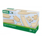 Train - Wooden Track Expansion Pack Beginners 11pc - Brio Wooden Trains 33401