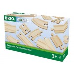 Train - Wooden Track Expansion Pack Intermediate 16pc  - Brio Wooden Trains 33402