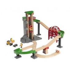 Train - Lift & Load Warehouse Set - Brio Wooden Trains 33887
