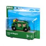 Train - Lion & Wagon - Brio Wooden Trains 33966
