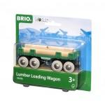 Train - Lumber Loading Wagon - Brio Wooden Trains 33696