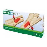 Train - Wooden Track Curved Switching Mechanical 2pc  - Brio Wooden Trains 33344