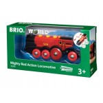 Train - Battery Powered Mighty Red Action Locomotive Two Way - Brio Wooden Trains 33592
