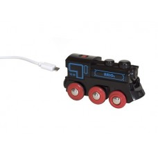 Train - Battery Powered Engine Two Way USB Rechargeable - Brio Wooden Trains 33599