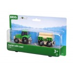 Train - Tractor with Load - Brio Wooden Trains 33337