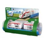 Train - Travel Train & Tunnel - Brio Wooden Trains 33890