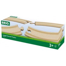 Train - Wooden Track Large Curved 4pc  - Brio Wooden Trains 33342