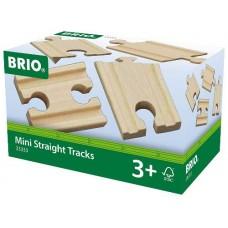 Train - Wooden Track Mini Straight 4pc  - Brio Wooden Trains 33333