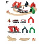 Train - Smart Tech Engine Set with Action Tunnels - Brio Wooden Trains 33873