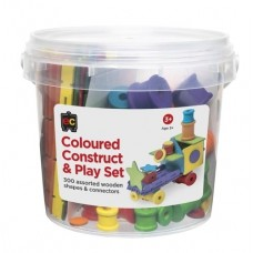 Construct & Play - Coloured Wood