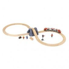 Train - Railway Starter Set Figure 8 - Brio Wooden Trains 33773