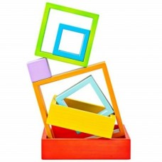 Stacking Squares - Wooden - Big Jigs Toys