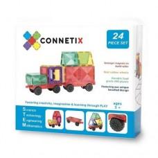 Connetix - Magnetic Construction - 24 pc Set Car Pack / Mobility Pack