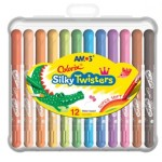 Colorix Silky Twister Crayons 12 Pack - Amos
