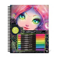 Colouring Book Black Pages - Nebulous Stars NEW