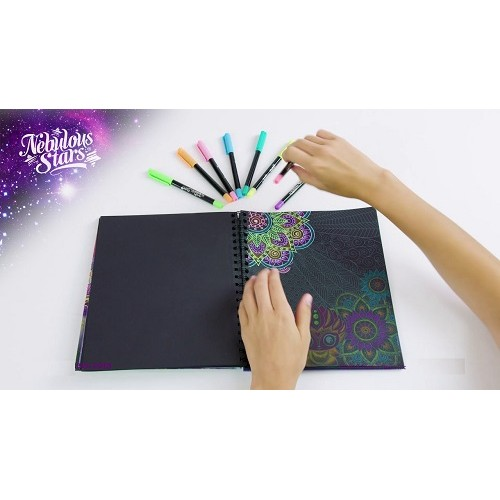 Colouring Book Black Pages Nebulous