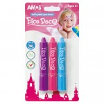 Face Deco - Face Paint Crayons - 3 pack