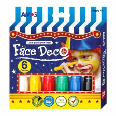 Face Deco - Face Paint Crayons - 6 pack