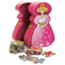 36 pc Djeco Puzzle - Princess Puzzle - Silhouette Box